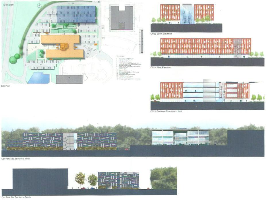 Palazzo per uffici e parcheggio multipiano Windmill Hill, Swindon